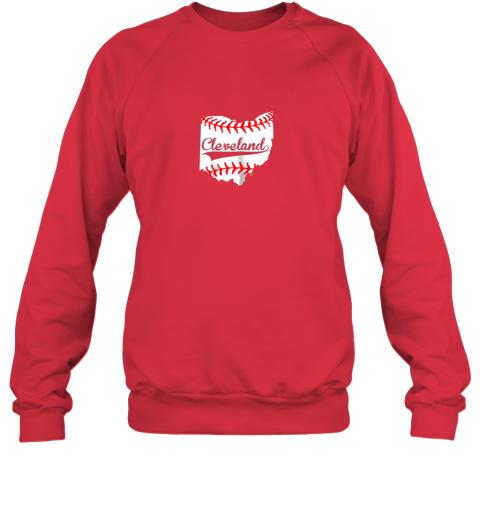 rkll cleveland ohio 216 baseball sweatshirt 35 front red