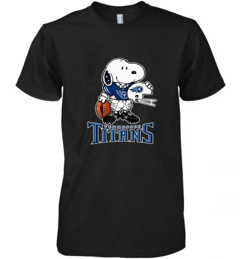Snoopy A Strong And Proud Tennessee Titans Player NFL Premium Men's T-Shirt