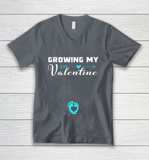 Cute Growing my Valentine Gift for Women pregnancy V-Neck T-Shirt 4