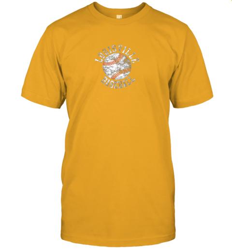 qo0u vintage louisville baseball jersey t shirt 60 front gold