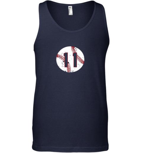dpsn vintage baseball number 11 shirt cool softball mom gift unisex tank 17 front navy