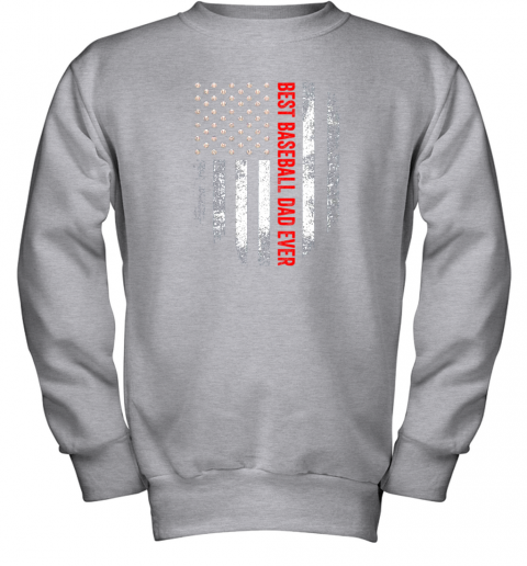o0yt vintage usa best baseball dad ever american flag daddy gift youth sweatshirt 47 front sport grey