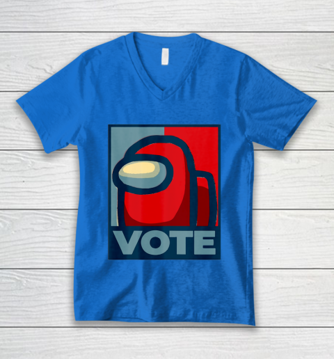 Who is the Impostor neu Among with us start the vote V-Neck T-Shirt 6