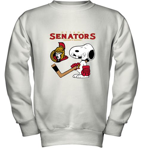 Ottawa Senators Ice Hockey Broken Teeth Snoopy NHL Youth Sweatshirt