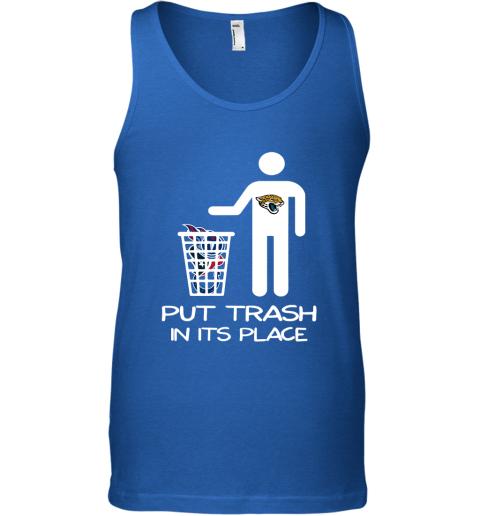 Jacksonville Jaguars Put Trash In Its Place Funny NFL Tank Top