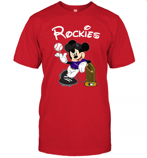 Colorado Rockies Mickey Taking The Trophy MLB 2019 Unisex Jersey Tee