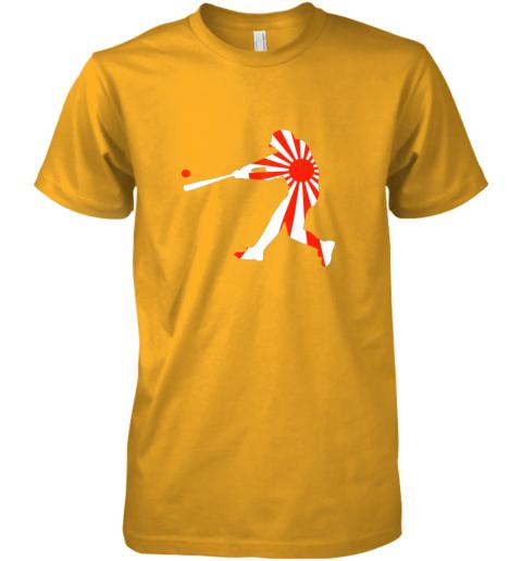 hp4t japan baseball shirt jpn batter classic nippon flag jersey premium guys tee 5 front gold