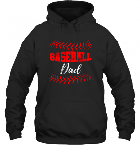 Mens Baseball Inspired Dad Fathers Day Hoodie