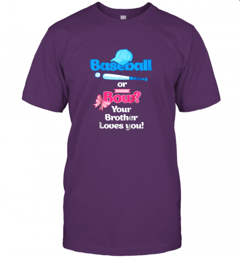 rjnw kids baseball or bows gender reveal shirt your brother loves you jersey t shirt 60 front team purple