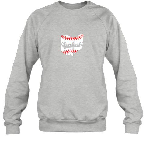 rkll cleveland ohio 216 baseball sweatshirt 35 front sport grey