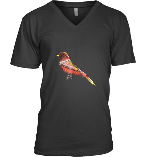 Beautiful Bird Lover Graphic Art TShirt Men Women Kids V-Neck T-Shirt