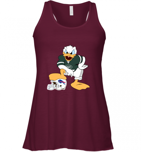 hur6 you cannot win against the donald new york jets nfl flowy tank 32 front maroon