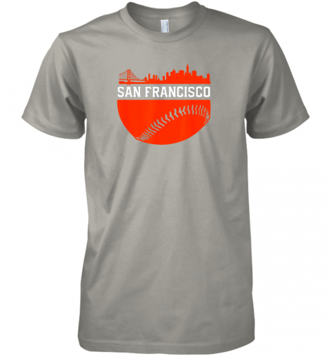 y3nv san francisco baseball vintage sf the city skyline gift premium guys tee 5 front light grey