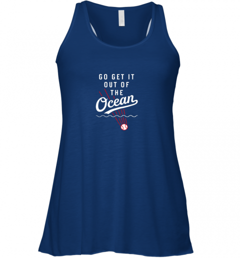 uwel go get it out of the ocean baseball tee dodge flowy tank 32 front true royal