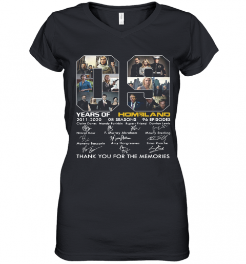 09 Years Of Homeland Thank You For The Memories Women's V-Neck T-Shirt