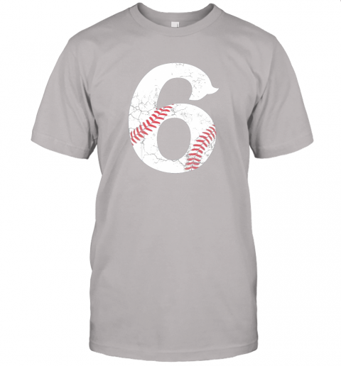 68a2 kids happy birthday 6th 6 year old baseball gift boys girls 2013 jersey t shirt 60 front ash
