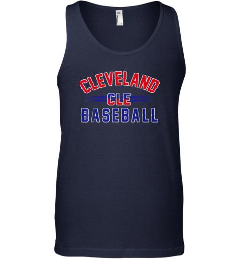 ndpp cleveland cle baseball unisex tank 17 front navy