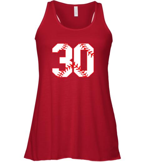 6ruj thirtieth birthday party 30th baseball shirt born 1989 flowy tank 32 front red