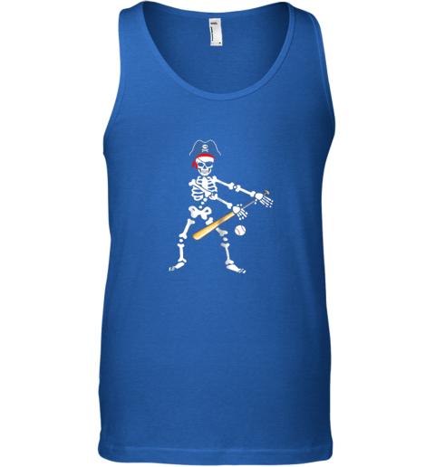 htxq skeleton pirate floss dance with baseball shirt halloween unisex tank 17 front royal