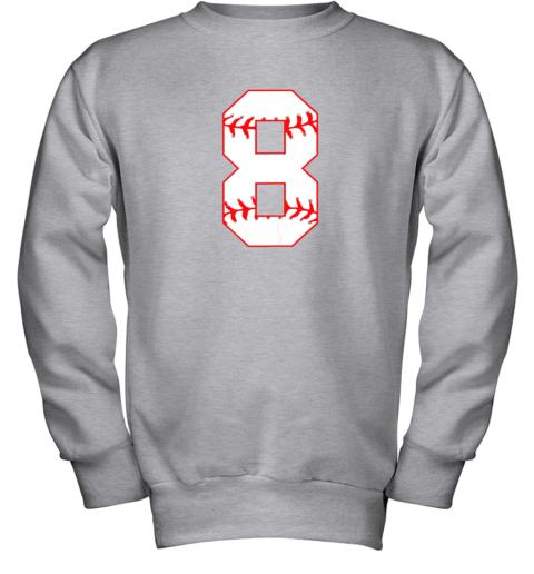 su2u cute eighth birthday party 8th baseball shirt born 2011 youth sweatshirt 47 front sport grey