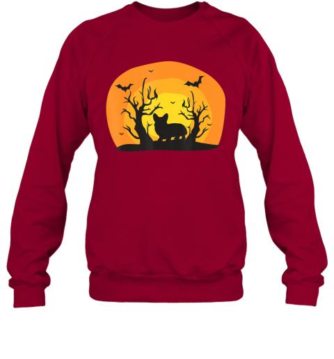 Corgi Dog Bat Funny Halloween Costume Silhouette Gift Sweatshirt