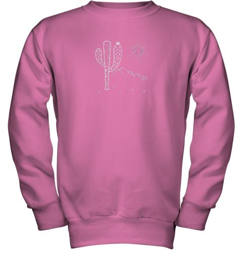 cxex cactus baseball bat image shirt for america39 s pastime fan youth sweatshirt 47 front safety pink