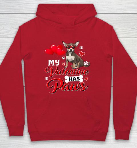 My Valentine Has Paws Chihuahua Valentine s Day Hoodie 7