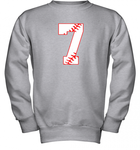 csjj cute seventh birthday party 7th baseball shirt born 2012 youth sweatshirt 47 front sport grey
