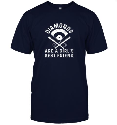 3tsp diamonds are a girl39 s best friend baseball jersey t shirt 60 front navy