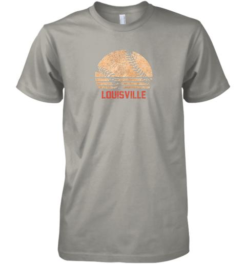 um82 vintage baseball louisville shirt cool softball gift premium guys tee 5 front light grey