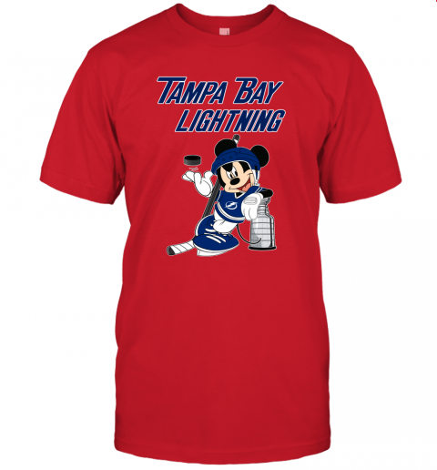 rcnl mickey tampa bay lightning with the stanley cup hockey nhl jersey t shirt 60 front red