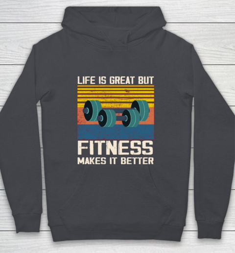 Life is good but Fitness makes it better Youth Hoodie 5
