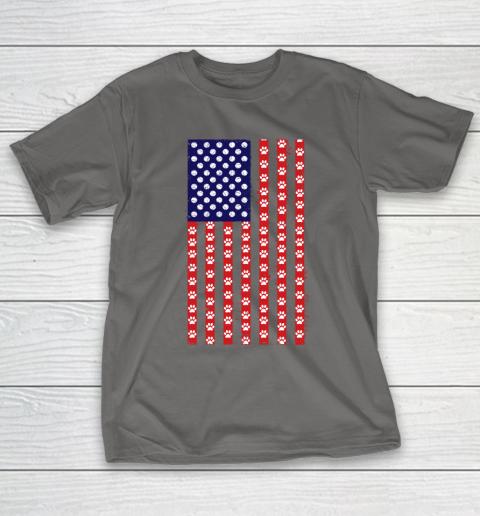 Tennis Dog Lover American Flag T-Shirt 8