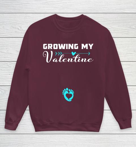 Cute Growing my Valentine Gift for Women pregnancy Youth Sweatshirt 4