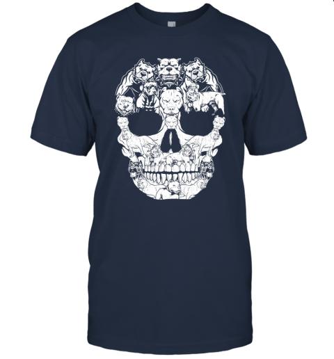 Pitbull Dog Skull Shirt Halloween Costumes Gift T-Shirt