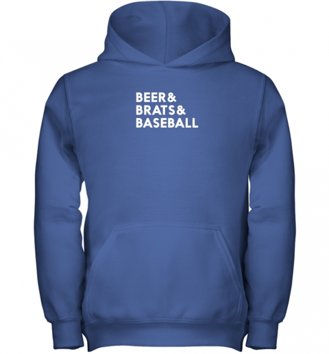 u3r8 beer brats baseball summer ampersand list youth hoodie 43 front royal