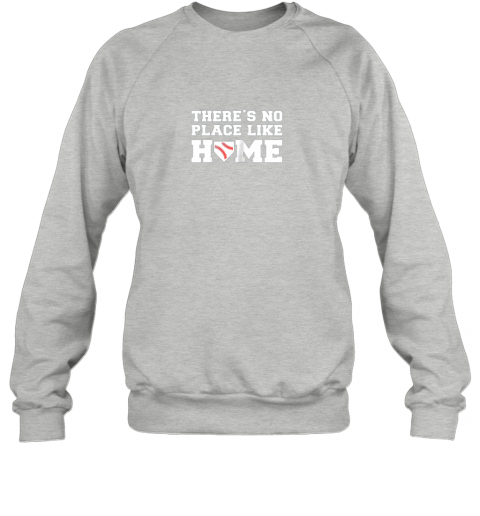 iyrn there39 s no place like home baseball shirt kids baseball tee sweatshirt 35 front sport grey