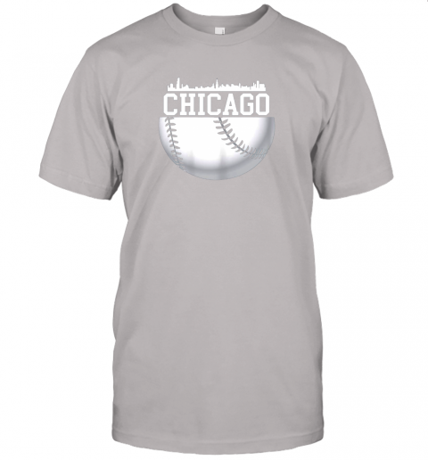vluh vintage downtown chicago shirt baseball retro illinois state jersey t shirt 60 front ash