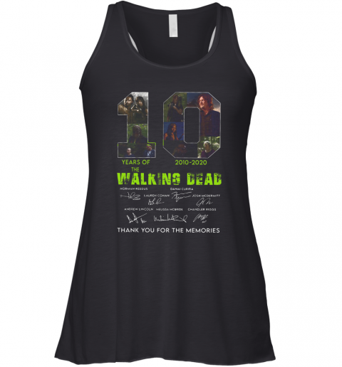 10 Years Of The Walking Dead 2010 2020 Anniversary Racerback Tank