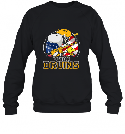 Boston Bruins Ice Hockey Snoopy And Woodstock NHL Sweatshirt