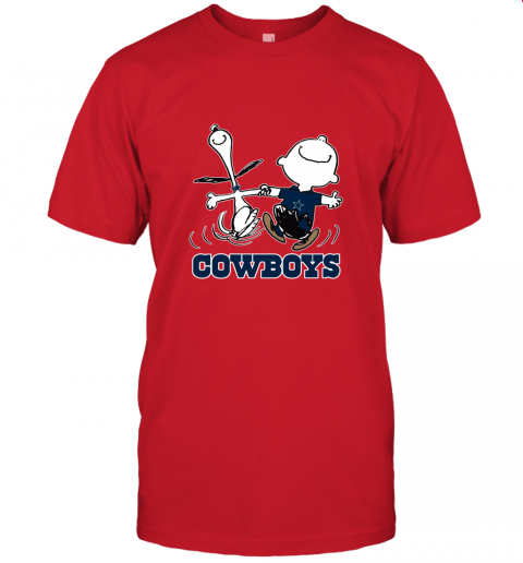 Snoopy And Charlie Brown Happy Dallas Cowboys Fans Unisex Jersey Tee