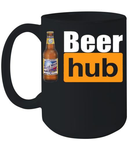Blue Moon Beer Hub Porn Hub Style Beer Ceramic Mug 15oz