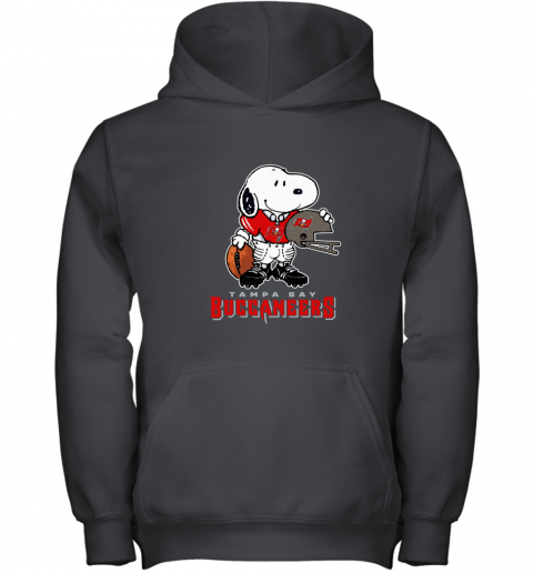 Snoopy A Strong And Proud Tampa Bay Buccaneers Player NFL Youth Hoodie