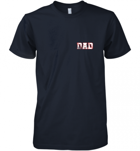 bkx2 mens baseball inspired dad fathers day distressed premium guys tee 5 front midnight navy
