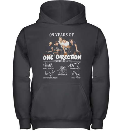 09 Years Of One Direction 2010 2019 Signatures Youth Hoodie