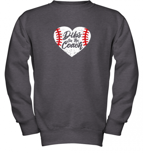 vdw2 dibs on the coach funny baseball youth sweatshirt 47 front dark heather