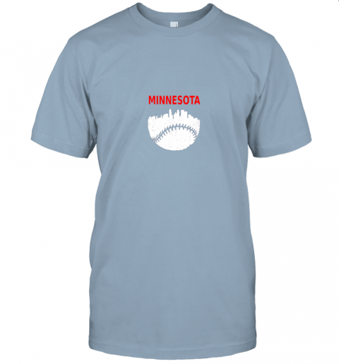 srgr retro minnesota baseball minneapolis cityscape vintage shirt jersey t shirt 60 front light blue