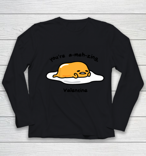 Gudetama the Lazy Egg A meh zing Valentine Youth Long Sleeve