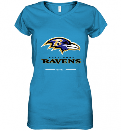 9pfj mens baltimore ravens nfl pro line black team lockup t shirt women v neck t shirt 39 front sapphire