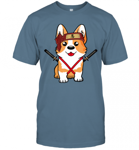 Ninja Corgi Dog Cute Japanese Anime Easy Halloween Costume T-Shirt